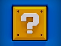 Super Mario Question Button