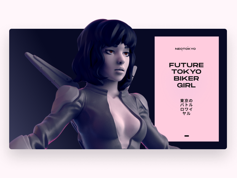 Future Tokyo Biker Girl Concept ui sketch 3d art 3d illustration flat app game game art mockup keyshot zbrush sculptris sculpting sculpt illustration concept maya cg 3d