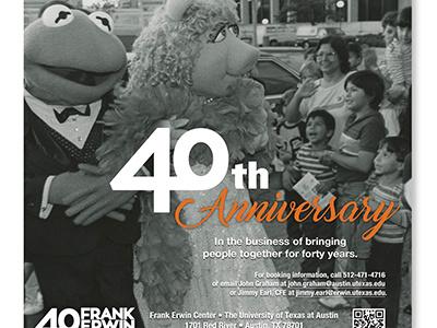 40th bw black and white print ad print miss piggy kermit muppets anniversary 40th