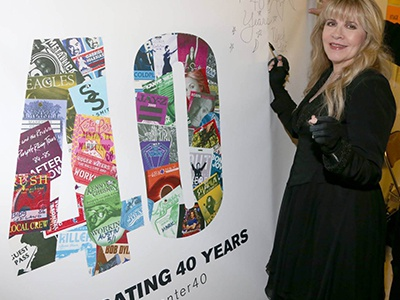 40th Anniversary Signing Wall installation signing wall backstage 40th anniversary