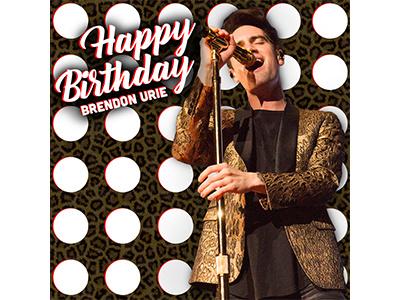 Erwin Center - Brendon Urie Birthday leopard print polka dots birthday panic at the disco frank erwin center social media