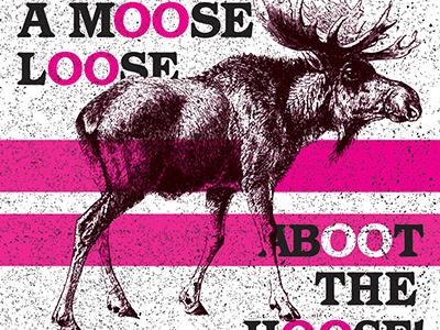 Mooooose fun double-o magenta public domain vector moose