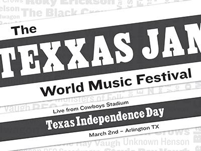 Texxas Jam kinetic type grad school texas independence day music festival festival texxas jam texas