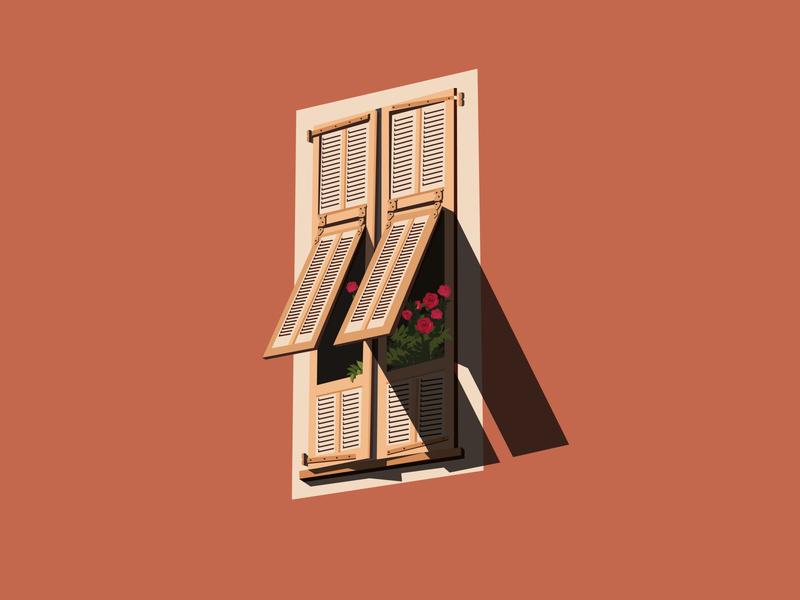 Window - Persienne // 04 print window graphic illustration