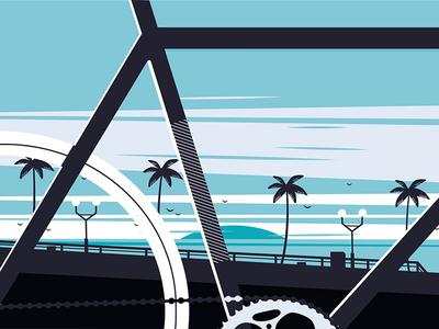 Bicycle race illustration