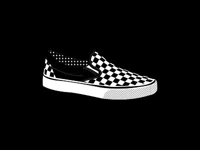 Vans shoes illustration
