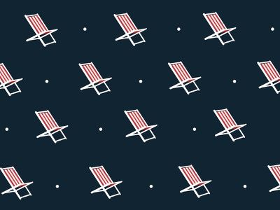 Pattern cover summer chair deck pattern illustration print
