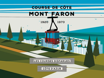 Lost Races : The French Riviera vol. 3 // Mont Faron mont faron french riviera course cycling landscape design illustration