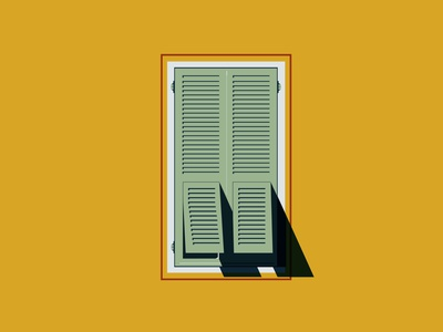 Window - Persienne // 01 french riviera design print color nice illustration window