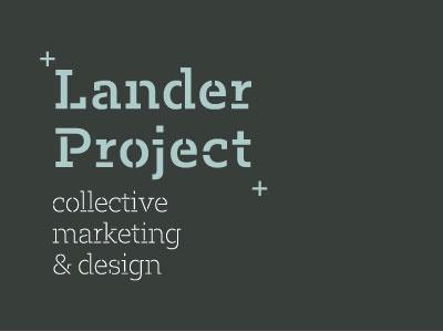 Lander Project logo project lander marketing design collective logo