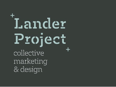 Lander Project logo project lander marketing design collective logo