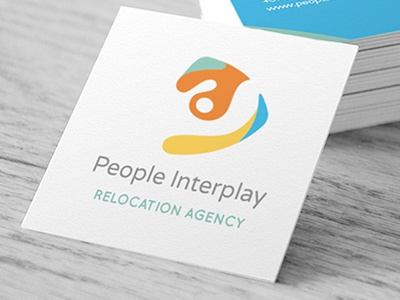 People Interplay Business Card logotype corporate logo agency relocation card business businesscard interplay people