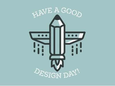 Have a good design day guys! spaceship lander astronaut line lineart icon invitation pencil design