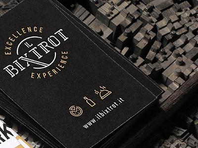 BIXTROT Business Cards cards business logo hipster icon menu food restaurant bistrot