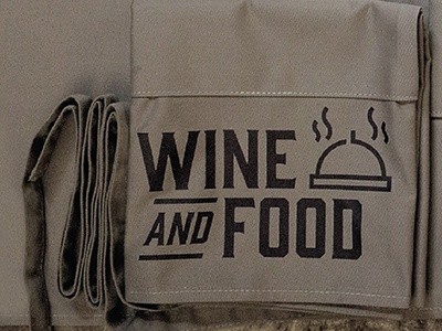apron Bixtrot hipster icondesign icon wine italy food restaurant apron