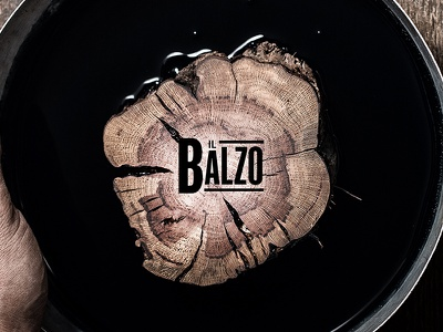 Wood print Il Balzo wine type wood