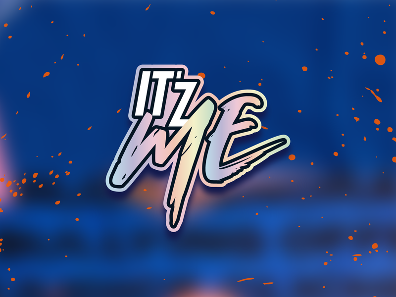 IT'z ME Holographic Sticker kpop itzy vector type typography calligraphy handmade lettering illustration design