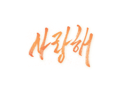 Ily. design handmade pen brush good type typography calligraphy lettering hangeul korean