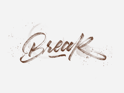 Coffee Break. design font made hand calligraphy brush type lettering coffee