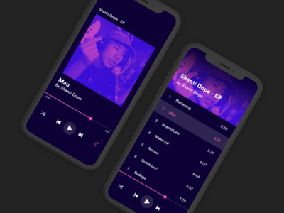 Shannydope web ux ui transition sketch principle music iphone interface design clay layout