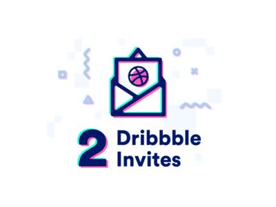 2 Dribbble Invites ux ui design invitation invites dribbble