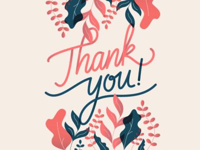 Thank you letter illustration font custom digital you thank letter design branding logo lettering