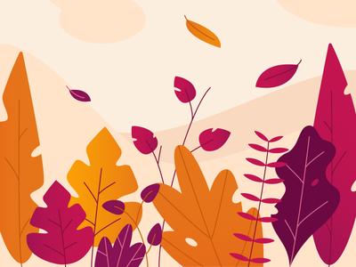 Free Falling leaf texture ai 2d gradient illustration palette autumn