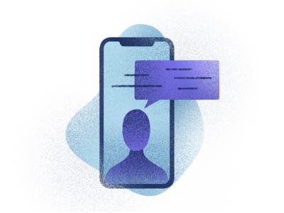 Message ios iphone website web ui  ux ui minimal illustration icon handmade graphic flat branding design brush branding app animation