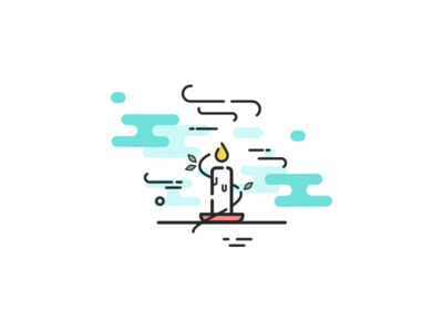 Time of passing death candle iconography icon iphone ui app illustration logo ui ux