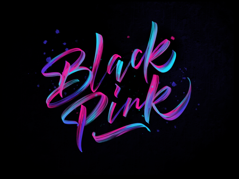 Blackpink procreate graphic logo type icon ui typography handmade illustration calligraphy lettering brush design
