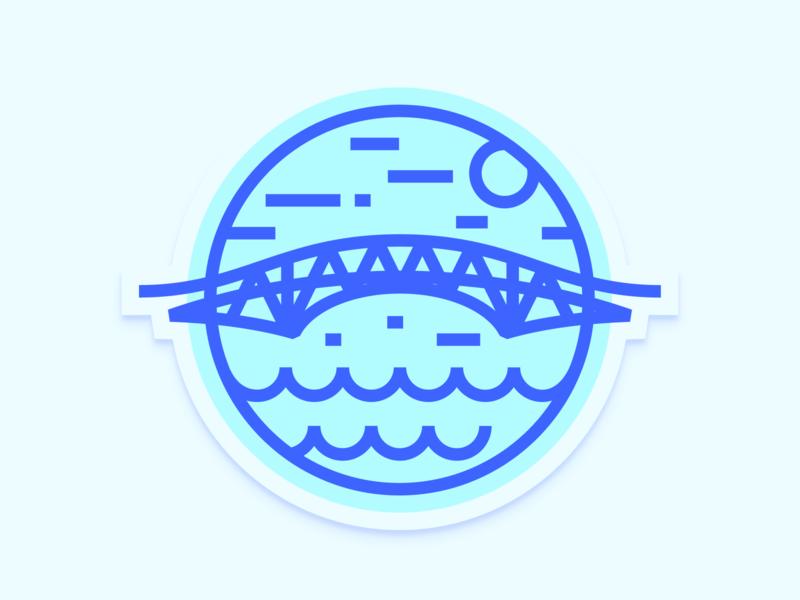 Tacloban logo flat branding app ux icon ui vector illustration design