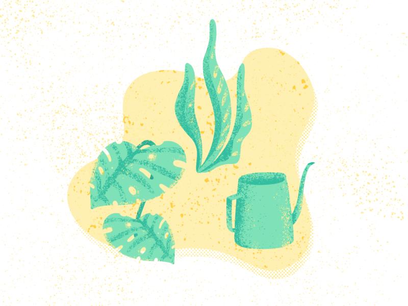 Grow 🌱 procreate branding vector logo icon handmade illustration brush design