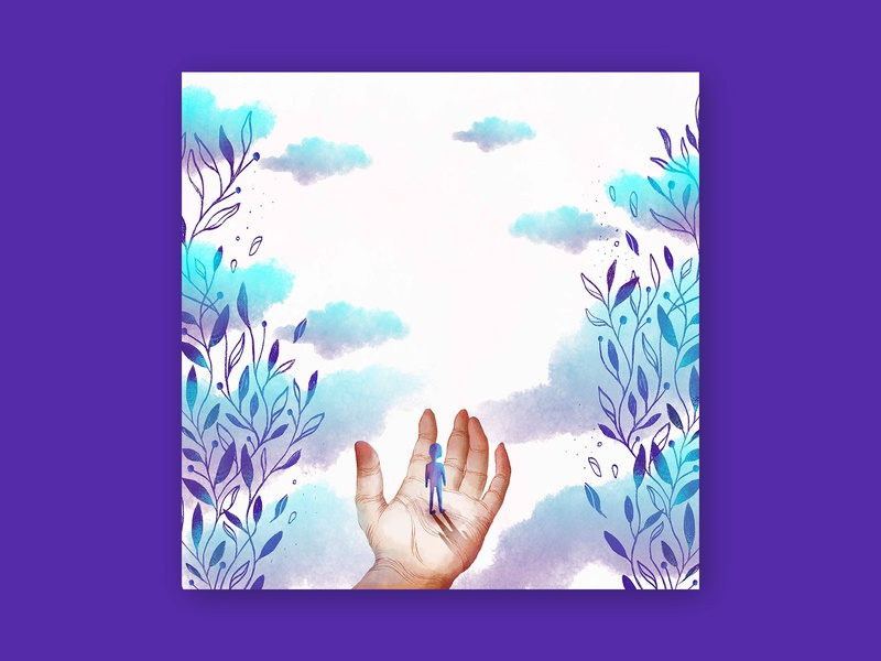 Album art goals nature inspiration travel album cover hand lineart texture color illustration design illustration music album art album
