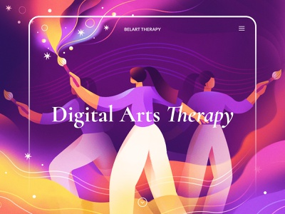 Website Illustration for Therapy Platform dance movement drawing painting art colours characters counselling therapy website design environment animation uiux website people inspiration texture design illustration