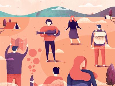 Outdoor Gathering nature outdoor gathering travel inspiration design illustration