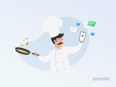 zomato partners chefs zomato partner app illustration