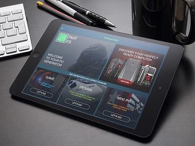 SmartBox home screen computer tablet ux ui