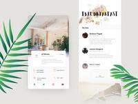 Restaurant app details