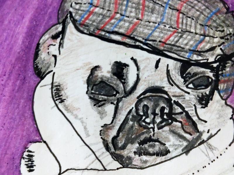 Pug pug alabama daily drawing illustration sketch