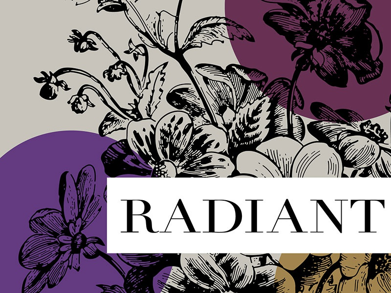 Radiant   Event Branding women etching floral color identity branding