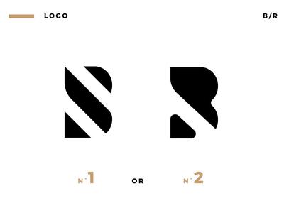 LOGO B.R letters typography typo brand r b logo