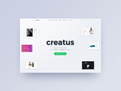Creatus header hero wordpress creatus