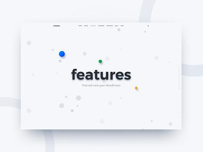 Creatus Features Page wordpress header hero landing features