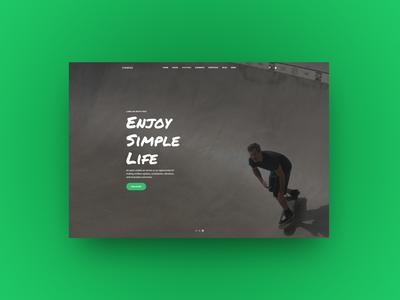 Hero Slider Set creatus typography header slider hero