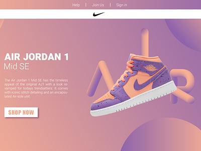 Air Jordan - Website Cover Concept design vector ui graphic design adobe illustrator