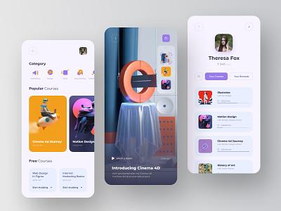 Courses App Concept design app typography ux website web ui