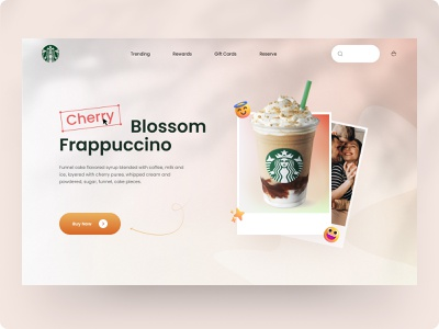 Starbucks Frappuccino interface service product website design web ux ui