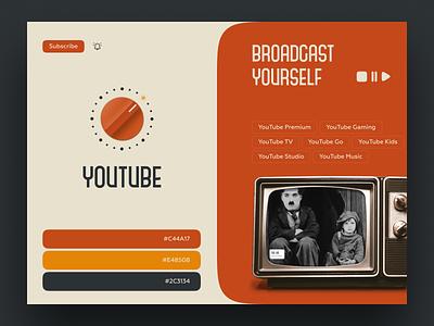 Retro Youtube brand identitly logo design retro brand logotype logo vintage branding packaging