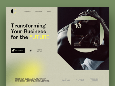 Landing page for business bank startup website ux web ui interface service product