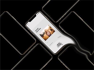 Andre Josselin Concept typography app web website design ux ui